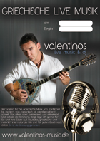 valentinos live music poster